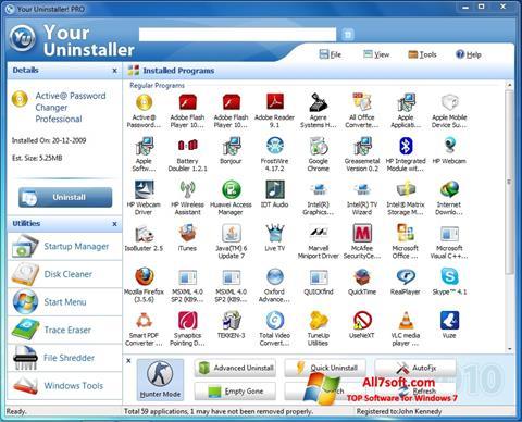 لقطة شاشة Your Uninstaller لنظام التشغيل Windows 7