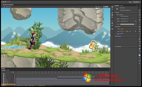 لقطة شاشة Adobe Flash Professional لنظام التشغيل Windows 7