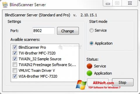 لقطة شاشة BlindScanner لنظام التشغيل Windows 7