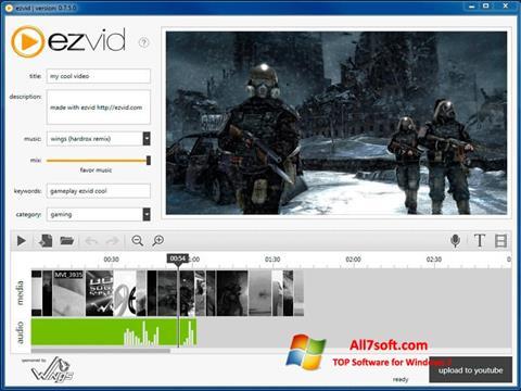 لقطة شاشة Ezvid لنظام التشغيل Windows 7