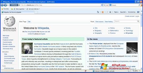 لقطة شاشة Internet Explorer لنظام التشغيل Windows 7