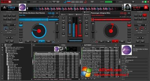 لقطة شاشة Virtual DJ لنظام التشغيل Windows 7