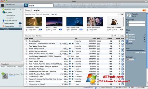 لقطة شاشة Vuze لنظام التشغيل Windows 7