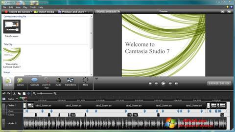 لقطة شاشة Camtasia Studio لنظام التشغيل Windows 7