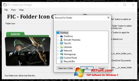 لقطة شاشة Icon Changer لنظام التشغيل Windows 7