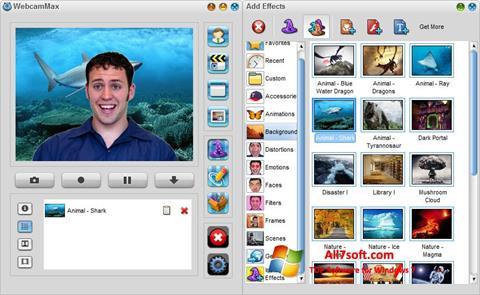 لقطة شاشة WebcamMax لنظام التشغيل Windows 7