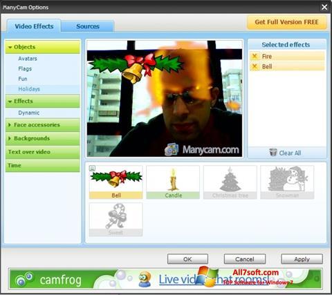 لقطة شاشة ManyCam لنظام التشغيل Windows 7