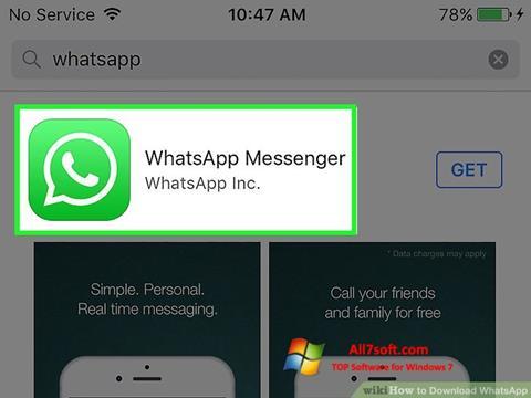 لقطة شاشة WhatsApp لنظام التشغيل Windows 7