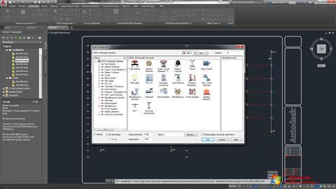 لقطة شاشة AutoCAD Electrical لنظام التشغيل Windows 7