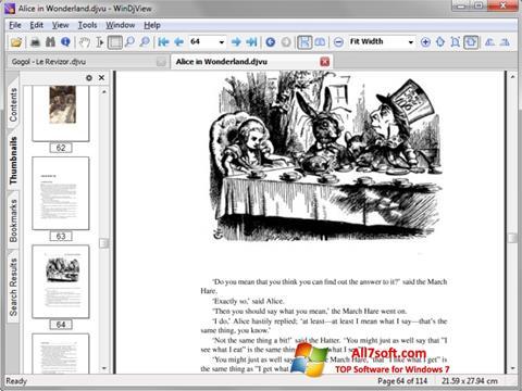 لقطة شاشة DjView لنظام التشغيل Windows 7