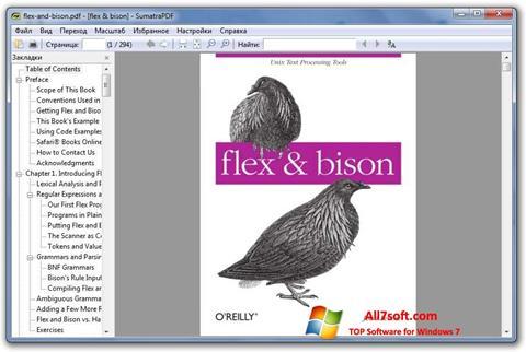 لقطة شاشة Sumatra PDF لنظام التشغيل Windows 7