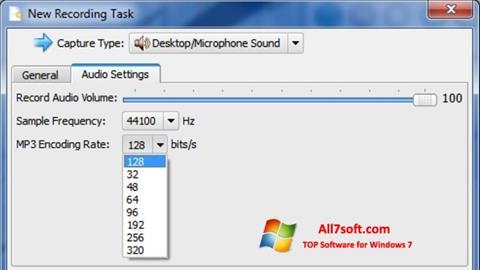 لقطة شاشة SMRecorder لنظام التشغيل Windows 7