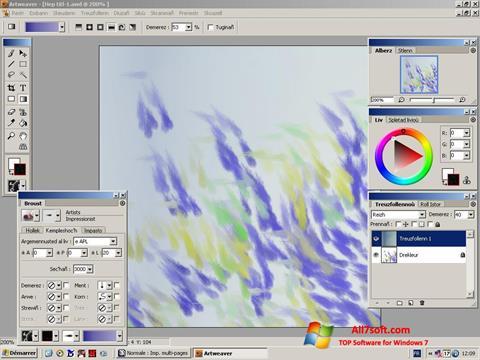 لقطة شاشة Artweaver لنظام التشغيل Windows 7