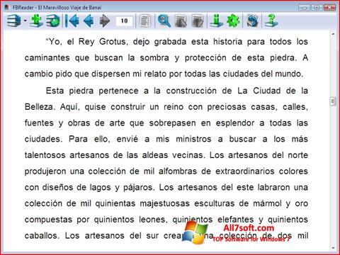 لقطة شاشة FBReader لنظام التشغيل Windows 7
