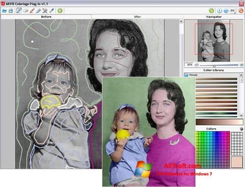 لقطة شاشة AKVIS Coloriage لنظام التشغيل Windows 7