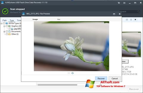 لقطة شاشة USB Flash Drive Recovery لنظام التشغيل Windows 7