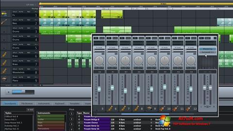 لقطة شاشة MAGIX Music Maker لنظام التشغيل Windows 7