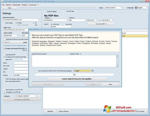 لقطة شاشة Scan2PDF لنظام التشغيل Windows 7