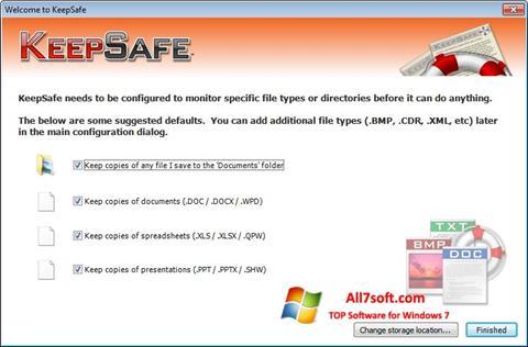 لقطة شاشة KeepSafe لنظام التشغيل Windows 7