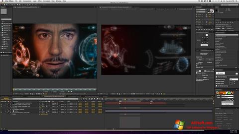 لقطة شاشة Adobe After Effects لنظام التشغيل Windows 7