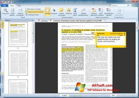 لقطة شاشة Nitro PDF Reader لنظام التشغيل Windows 7