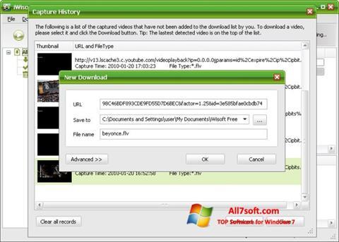 لقطة شاشة Free Video Catcher لنظام التشغيل Windows 7