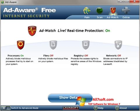 لقطة شاشة Ad-Aware لنظام التشغيل Windows 7