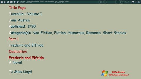 لقطة شاشة ICE Book Reader لنظام التشغيل Windows 7