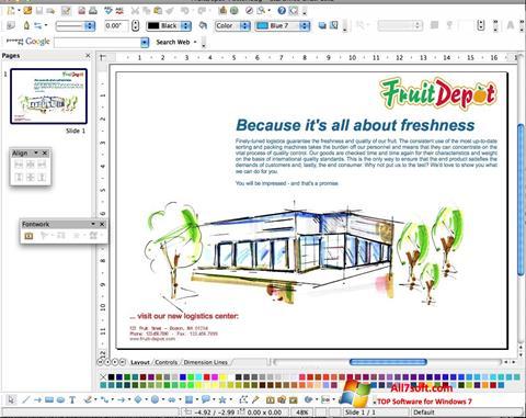 لقطة شاشة Apache OpenOffice لنظام التشغيل Windows 7