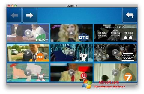 لقطة شاشة Crystal TV لنظام التشغيل Windows 7