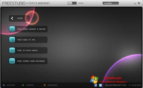 لقطة شاشة Free Studio لنظام التشغيل Windows 7
