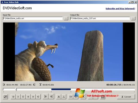 لقطة شاشة Free Video Dub لنظام التشغيل Windows 7