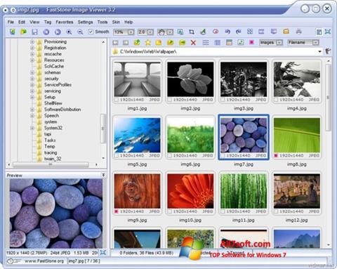 لقطة شاشة FastStone Image Viewer لنظام التشغيل Windows 7