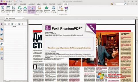 لقطة شاشة Foxit Phantom لنظام التشغيل Windows 7
