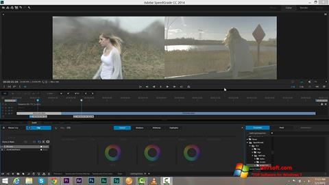 لقطة شاشة Adobe SpeedGrade لنظام التشغيل Windows 7