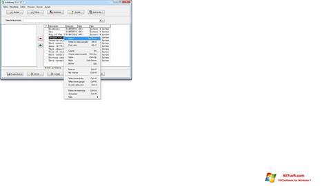 لقطة شاشة ArtMoney Pro لنظام التشغيل Windows 7
