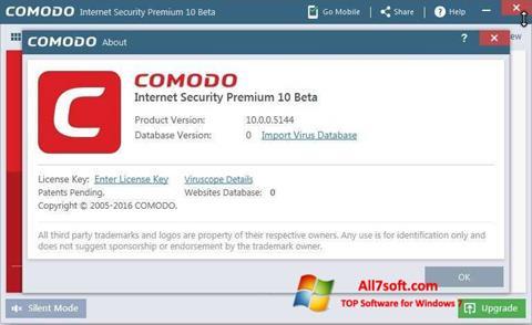 لقطة شاشة Comodo لنظام التشغيل Windows 7