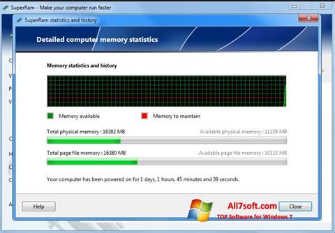 لقطة شاشة SuperRam لنظام التشغيل Windows 7