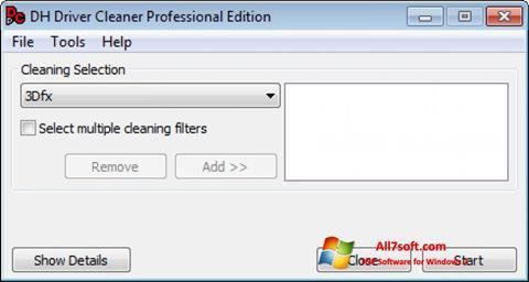 لقطة شاشة Driver Cleaner لنظام التشغيل Windows 7