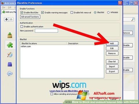 لقطة شاشة uBlock لنظام التشغيل Windows 7