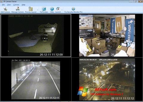 لقطة شاشة IP Camera Viewer لنظام التشغيل Windows 7