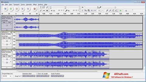 لقطة شاشة Audacity لنظام التشغيل Windows 7