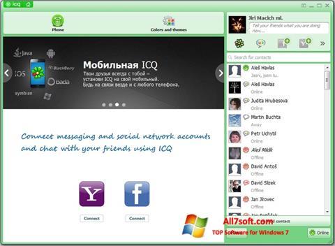لقطة شاشة ICQ لنظام التشغيل Windows 7