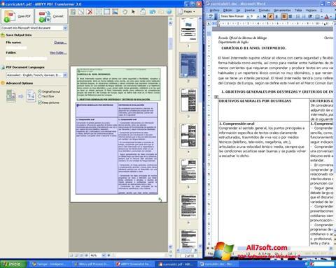 لقطة شاشة ABBYY PDF Transformer لنظام التشغيل Windows 7