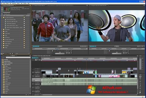 لقطة شاشة Adobe Premiere Pro لنظام التشغيل Windows 7
