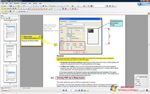 لقطة شاشة PDF-XChange Viewer لنظام التشغيل Windows 7
