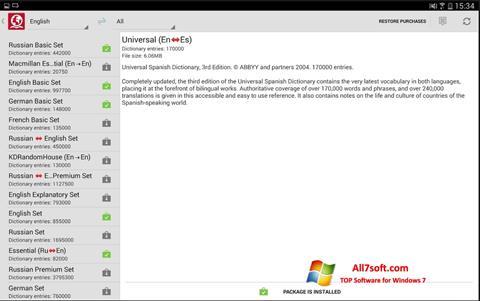 لقطة شاشة ABBYY Lingvo لنظام التشغيل Windows 7