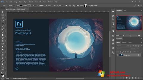 لقطة شاشة Adobe Photoshop لنظام التشغيل Windows 7