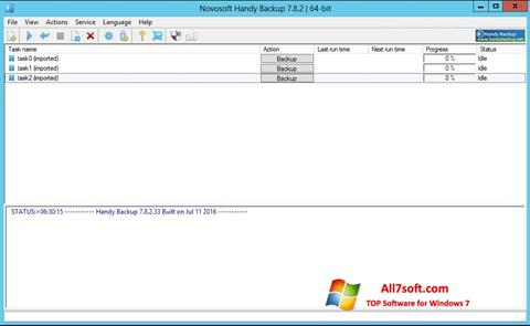لقطة شاشة Handy Backup لنظام التشغيل Windows 7