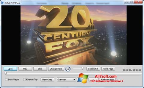 لقطة شاشة MKV Player لنظام التشغيل Windows 7
